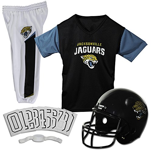 Franklin Sports Jacksonville Jaguars Kids Football Uniform Set - NFL Youth Football Costume for Boys & Girls - Set Includes Helmet, Jersey & Pants - Small