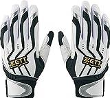 ZETT(ゼット) バッティンググローブ 両手 インパクトゼット S(22~23cm) BG999 ホワイト×シルバー(1113) 野球