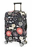 Cover Proteggi Valigia Protettore dei Bagagli Valigia Borsa Elastica Suitcase Cover Proteggi bagagli luggage Cover Pop Gatto Pesce (XL 30-32 Pollici)