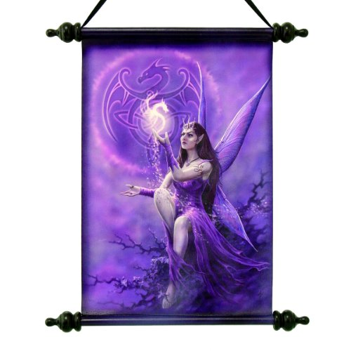 17' Celtic Mystical Dragon Fairy Canvas Dragon Wall Scroll Tapestry Hanging