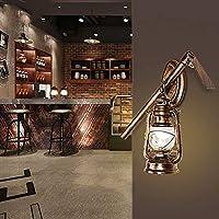 ウォールランプインテリアヴィンテージメタルウォールランプアンティークバーカフェウォールライトE27レトロ素朴な鉄読書灯画像照明