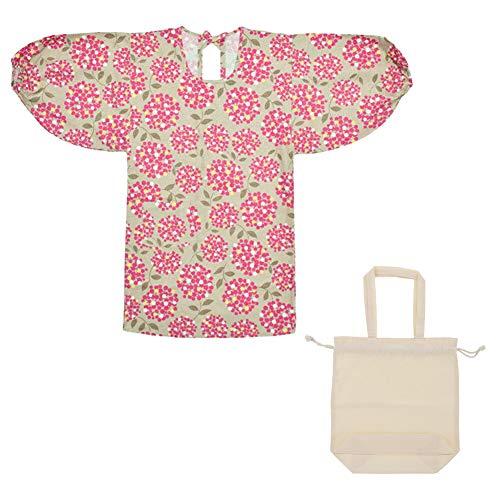 [ KIMONOMACHI ] オリジナル ロング丈 割烹着 トートバッグ付き ギフトセット「Eビスケットブーケ」日本製 エプロン プレゼント最適品 母の日 誕生日 クリスマス