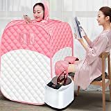 SUQIAOQIAO Portable Far Infrared Sauna, PInfrared Home Spa with Upgrade Chair for Full Body Relaxation,Steam Sauna Portable Spa Room
