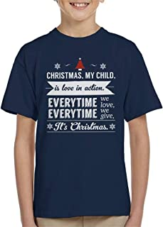 Christmas is Love in Action Dale Evans Rogers Quote Kid's T-Shirt