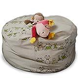Umweltfreundlich Stofftiere Kuscheltiere Decken Kissen Aufbewahrung für Spielzeug Handgemacht Sitzsack Leinen Bezug Aufbewahrungstasche Kinderzimmer Frosch