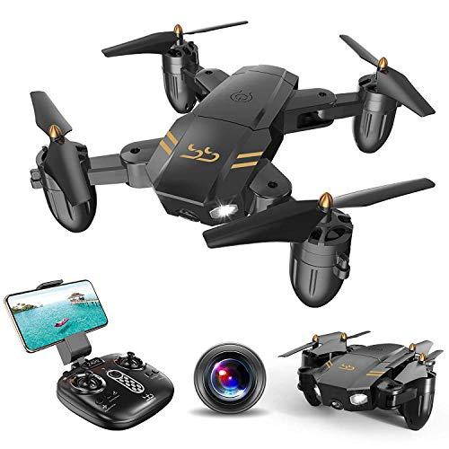 ScharkSpark Drohne-Guard für Anfänger, Drohne mit 1080P FPV HD Kamera/Video, Tragbarer RC-Quadcopter, 2,4 G 6-Achsen Kopflos-Modus Höhe halten EIN-Tasten-Rückkehr 3D-Flips und Rollen Spielzeug