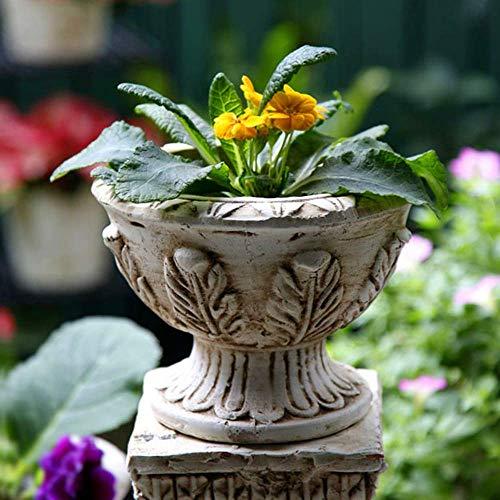 Vaso da Fiori Vintage a Base di Carne Statua da Giardino in Argilla Impermeabile per Giardino Paesaggio Decorazione del Prato Regalo Artigianale - A: 26 * 17 * 12,5 cm, Decorazione Domestica