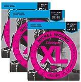 D'Addario Guitar Strings| Electric | 12 string | 3 Pack | EXL150 | Light