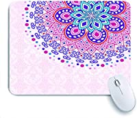 Mabby マウスマット ゲーミング オフィス マウス パッド,Elegant card with lace ornament and place,Non-Slip Rubber Base Mousepad for Laptop Computer PC Office,Cute Design Desk Accessories