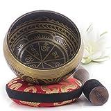 Silent Mind ~ Ensemble de bols de chantant tibétain ~ Aspect Antique ~ maillet à...