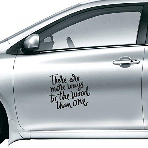 DIYthinker Er Zijn Meer Manieren Om Het Hout Dan Een Citaat Auto Sticker Op Auto Styling Decal Motorfiets Stickers Voor Auto Accessoires Gift
