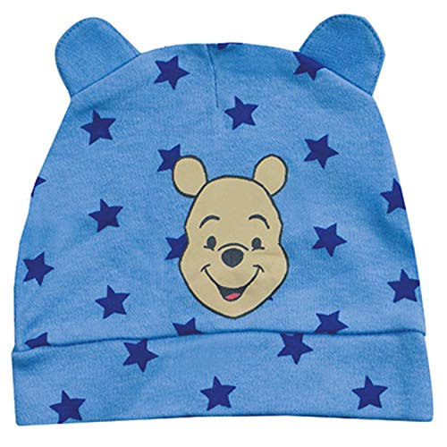 Disney Winnie Puuh Baby Kleinkind Mütze Cap Sterne mit Öhrchen, blau
