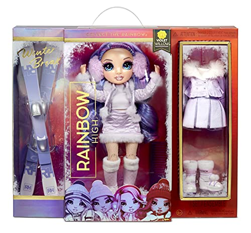Rainbow High Winter Break Violet Willow - Purple Fashion Doll with 2...