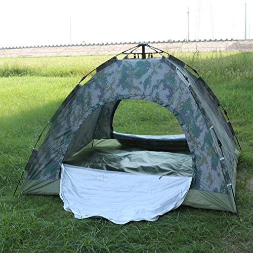 ZHONGXIN Camping Tent Waterproof 3-4 Person, Pop Up Dome Tent Camouflage Outdoor Tent, for Camping Hiking Travel Garden Fishing Picnic With Carry Bag (Digital camouflage,200 * 200 * 135cm)