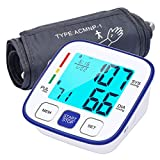 Blood Pressure Monitor for Upper Arm, ATMOKO Automatic Digital BP Machine Kit with Large Backlit Display for Home Use, 2x120 Reading Memory, Wide Range Cuff 22-42cm