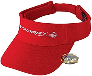 Gregs Automotive Corvette Stingray Visor Hat Red - Bundle with Driving Style Decal