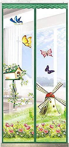 Zanzariera Magnetica per Porte Anti Zanzare Calamite Tenda Anti Zanzare Insetti Facile da installare per ideale per porte da balcone, cantine, terrazze 80X200 CM Blu
