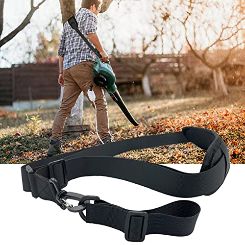 Trimmer Strap Shoulder Strap Blower Strap Weed Wacker Strap Universal for Leaf Blower, Weed Eaters Clearance, Multi Head System, Compatible with EGO String Trimmer and All Types (1 Pack,Black)