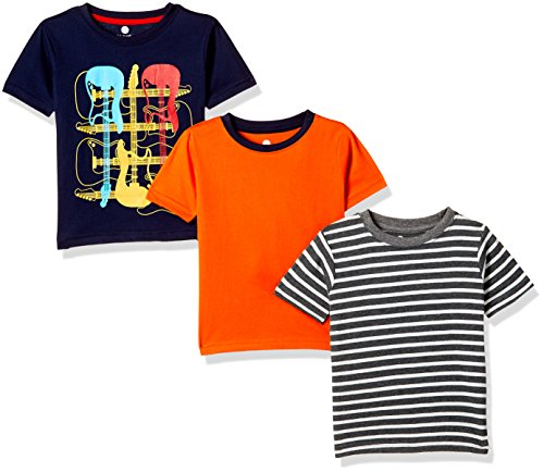 Cloth Theory Boys' Regular Fit T-Shirt (CTKR 001_Multi_2-3 Years)(Combo Pack of 3)
