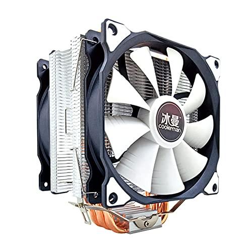 InnerSetting SNOWMAN MT6 12cm CPU Cooler Fan 6 tubos de calor disipador de calor de 4 pines (ventilador dual)
