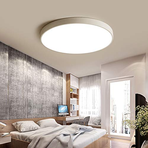 Lámpara de techo LED regulable Luz de techo blanco redonda clásica, diseño...
