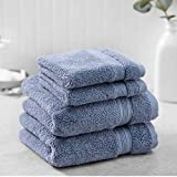Charisma New Soft and Luxurious 4 Piece Towel Set | 2 Hand Towels and 2 Wash Cloths (Blue)