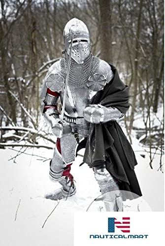 """Max 84% OFF NauticalMart Knight Armor Kit Stain """"Paladin"""" All items free shipping Medieval"""