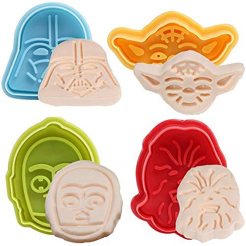 BESLIME Fondant Ausstecher 8pcs Star Wars Ausstechformen Plätzchenformen, Backformen Keks Cookie Cutters Tortendeko