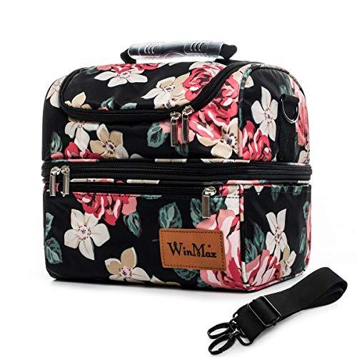 winmax Kühltasche klein für die Schule,isoliert Picknicktasche/Lunch-Tasche,Tasche für Lunch,wasserdicht,faltbar,für Erwachsene,für Camping, Strand, Ausflüge, Grillen,12L