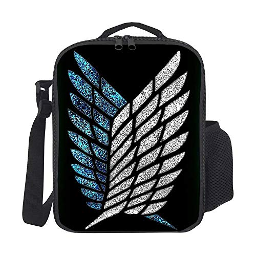 Premium Insulated Lunch Box- High Capacity Attack on Titan Organizer Cooler Bento Bags for School Work Kids Adult