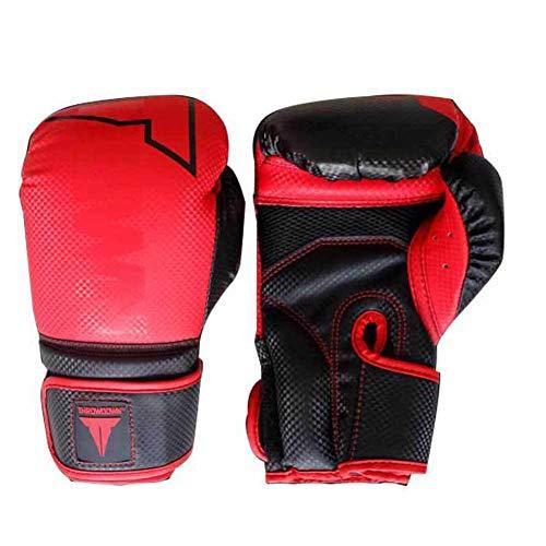 Coachinghandschuhe, Training Boxhandschuhe aus echtem Leder Die Turnhalle Club für Männer geeignet ist und Frauen Boxhandschuhe (6 Unzen, 8 Unzen, 10 Unzen, 12 Unzen,),Rot,10oz