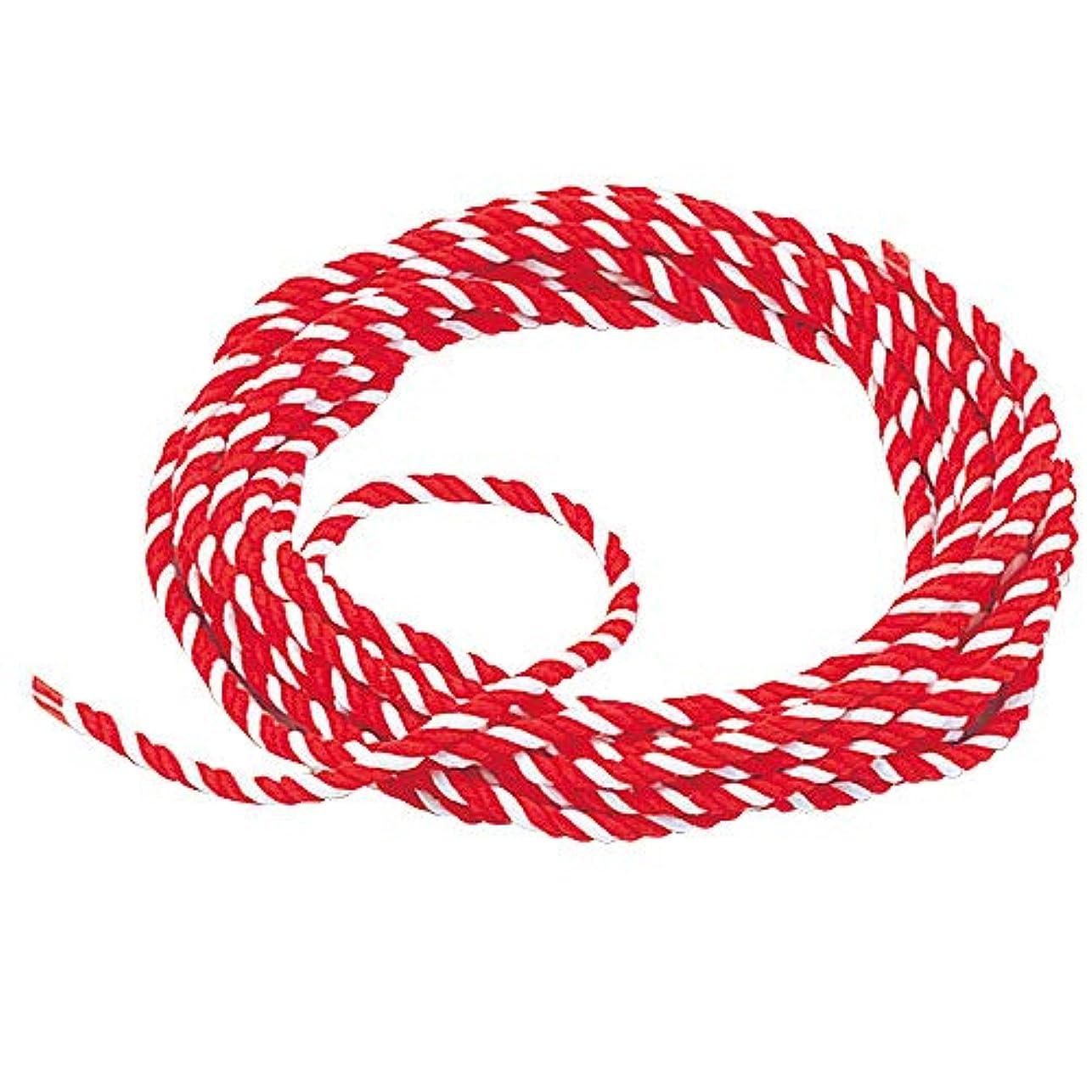 親愛な健康慢な紅白ひも 太さ6mm 切売 「紅白紐?紅白ロープ」 アクリル製