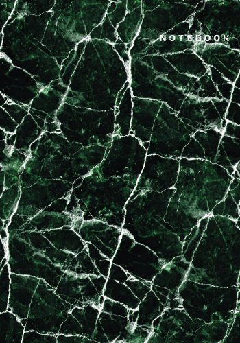 Notebook: Green Marble Composition Notebook-Large Grid 7x10 Notebook, B5 grid notebook journal, Dairy, 120 pages v.3
