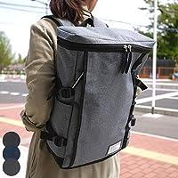 リュック バッグ 靴 レディース メンズ スクエアボック 通勤 通学 B4サイズ対応 ジム通い 大容量サイズ(クロ)