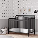 Baby Relax Juniper 4-in-1 Convertible Metal Crib, Matte Black