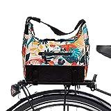 Po Campo Bags Bike Accessories – Chelsea Bike Trunk Bag – Bike Rack Bag - Waterproof Rear Rack Cargo Bike Bag – Bicycle Trunk Pannier (Flora)