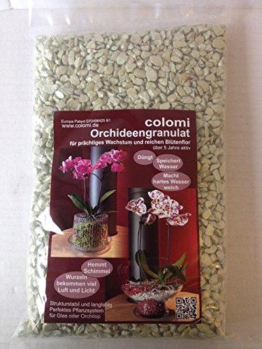 Orchideengranulat 1 l fein jade Colomi Substrat Korngröße 4-8mm