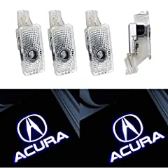 ★★【Applicability】 Fit for Acura RLX/ZDX/TLX/TL/MDX Series,Super cool LED logo projection on the floor for Acura. Detailed compatible car models please refer to the description page. Note: make sure your car has original door light at first when you w...
