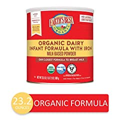 Organic formula that is easy to digest and nutritionally complete for baby's first twelve months All lactose milk based powder formulation; our closest formula to breast milk, no added corn syrup solids Omega 3 DHA and Omega 6 ARA fatty acids natural...