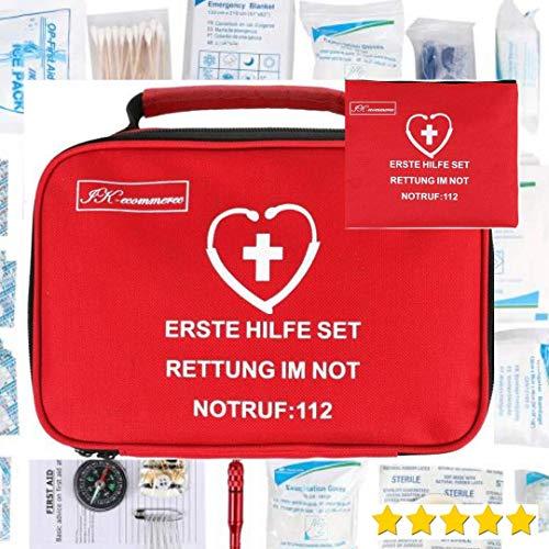 154-delige EHBO-set voor auto, home EHBO-doos voor wandelen, sport, werk, kantoor, bouwplaats, boot, EHBO-geval om te overleven en te reizen
