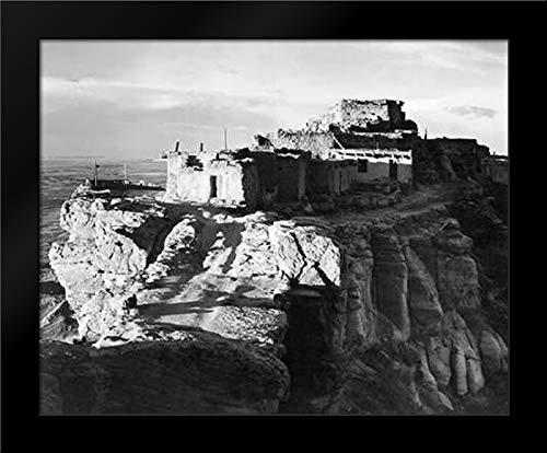 Adams, Ansel 24x20 Black Modern Framed Art Print Titled Walpi, Arizona, 1941