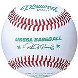 Diamond Usssa Dol-1 Leather Baseballs 12 Ball Pack