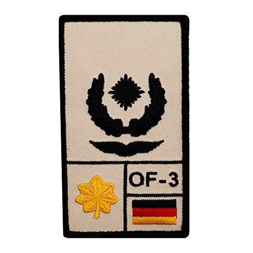 Café Viereck ® Major Luftwaffe B&eswehr Rank Patch mit Dienstgrad - Gestickt mit Klett – 9,8 cm x 5,6 cm (Sand)