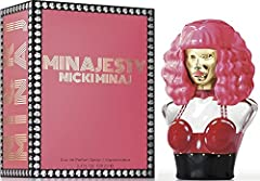 Minajesty by Nicki Minaj is a Floral Fruity fragrance for women This is a new fragrance Minajesty was launched in 2013 Sultry and glamorous Nicki raises the bar as she redefines reality with a wink of playfulness Majestic, glamorous, confident Crowni...