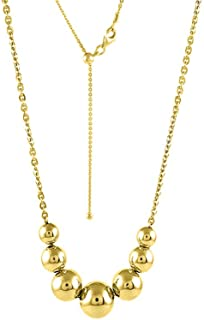 gold ball bead chain necklace