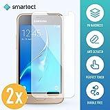 smartect Panzerglas kompatibel mit Samsung Galaxy J1 2016 [2 Stück] - Bildschirmschutz mit 9H Festigkeit - Blasenfreie Schutzfolie - Anti Fingerprint Panzerglasfolie