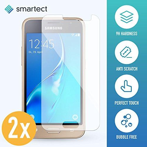 smartect Panzerglas kompatibel mit Samsung Galaxy J1 2016 [2 Stück] - Displayschutz mit 9H Härte - Blasenfreie Schutzfolie - Anti Fingerprint Panzerglasfolie