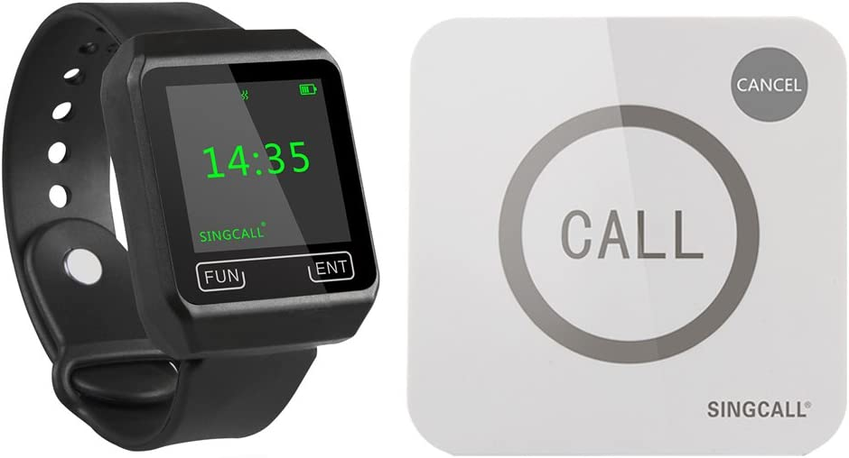 SINGCALL Wireless Calling System Max 44% OFF Guest Call Cinema for Be Lowest price challenge