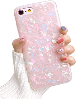 Dailylux iPhone 8 Case,iPhone 7 Case,Glitter Pearly-Lustre Translucent Shell Pattern Sparkle Bling Crystal Clear Soft TPU Back Protective Phone Case Cover for iPhone 7/8 4.7
