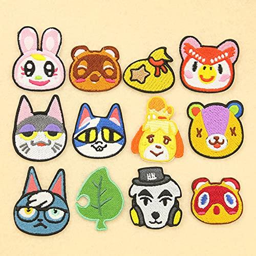 Patch Sticker,Parche termoadhesivo,Aplique de bordado adecuado para sombreros, chaquetas, abrigos, camisetas, gato y cachorro 13 piezas